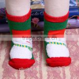 cute knit pattern merry christmas crochet soft warm baby socks cute boot cuffs