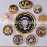 High-grade custom-shaped badge medal badge emblem class commemorative coin design emblem Alice
