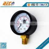 (Y-40A) 40mm small size low pressure colorful dial style standard thread brass connection mechanical fuel gauge