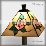 MX030009 china wholesale tiffany style stained glass lamp shade for home decoration piece