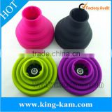 magic mini foldable silicone hair dryer with diffuser Chinese wholesale