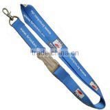 Polyester lanyard with detachable buckle/silk screen lanyard/promotional sublimation lanyard