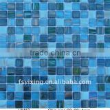 Thickness 4mm Blue Swimming Pool Crystal Glass Mosaic HM13 for swimming pool Foshan mosaic wholesale