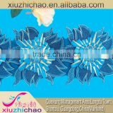 X0327-15(1.0) Garment's accessory metallic cord organza handmade applique tulle embroidered lace