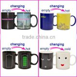 Factory custom christmas santa claus ceramic color changing mug/christmas heat sensitive coffee mug wholesale price