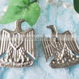 silver plating casting bird lapel pin for cap