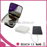 Double sides compact lighted makeup mirror with power bank / 3000mAh daily use power bank with makeup mirror for Iphone