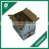 FRUIT CARTON BOX FULL PRINTING CARDBOARD PAPER BOX FOR STRAWBERRY PACKAGING WITH FREE SAMPLE