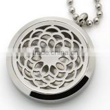 Fashion Hollow Lotus OM Yoga Aromatherapy Essential Oils Diffuser Locket Necklace Pendant