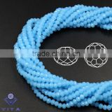 6MM Blue Series Jade Material flat round crystal glass beads for bead chain necklaces designs