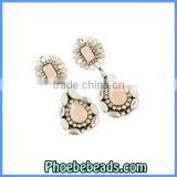 Wholesale High Quality Brand Resin Stud Crystal Drop Earrings CE-D003