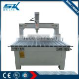 used low cost cnc wood carving machine good quality for glass bottle pvc plate marble arts and metal ring for best sale