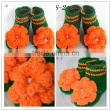 efan cotton handmade crochet animal shoes baby boot with flower pattern minions acrylic beanie