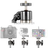 "OEM Aluminum Alloy 360 Degree Rotating Swivel Mini Ball Head with 1/4""3/8""Thread Base Mount for Canon,Nikon,For Gopro Iphone"