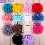 Lace Ruffled Fabric Flower For Baby Girls Hair Flower Center Accessories Hand Craft DIY ,YDKM07