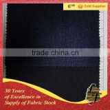 Cotton Polyester Spandex Stretch Jeans Fabric Stocklot Wholesale Stock Denim Fabric