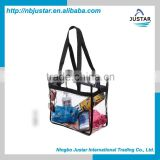 Newest Custom Clear PVC Bag Wholesaler Stand up Cosmetic PVC BAG Cheap Bikini Packaging Swimwear PVC Bag