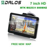 Portable car GPS navigator smart auto radio car dvd mtk 7 inch gps navigation with 4GB memory