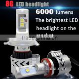 Head led bulb car 8G 9006 9007 9012 H7 H4 led super bright outdoor light ing 6000LUMEN AND super bright indoor solar led light