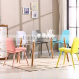 Colorful Modern Outdoor Plastic Chair With Metal Legs Plastic Office Chair Simple Chair Plastic