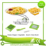 Amazon Best Sale Premium French Fry Cutter/Potato Slicer Includes 3-in-1 Brush & Cleaning 2 Blades Kitchen Homemade Fries