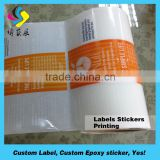 High quality glossy foil sticker vinyl eggshell sticker lable glow in the dark sticker .