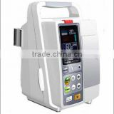 Infusion pump with high accuracy drip rate and volumetric/portable wtith battery