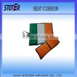 Ireland flag printing portable outdoor seat cushion , Green white orange outdoor seat cushion