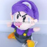 Super Mario Brothers Bros Plush Baby Soft Doll Toy - Waluigi BB Baby 23cm/9""