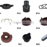 Wing nut, Strainer, Washer, Holder, Impeller, Fan cover, Plug, Key, Spare parts for water pump 2 inch, 3 inch