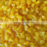 chinese traditional food canned fresh peach dices