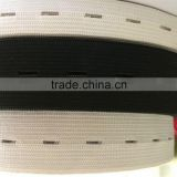 Black/White Woven Buttonhole Elastic Sewing Band For Clothes
