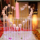 crystal champagne gold lotus crystal candle holder candelabra weddings decorations wedding table