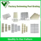 China Factory High Quality ABS and PVC material swimming pool grating/swimming pool overflow grating
