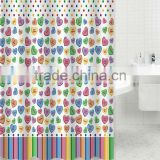 Polyester printed cartoon kids shower curtains