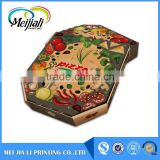 Color corrugated large size High qaulity customized motorcycle pizza box