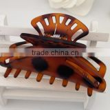 wholesale big size Black browm tortoise Plastic Barrette Hairpin Clamp Hair Claw Clip 2 Pcs for Ladies