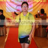 custom digital print fashion badminton polo shirts