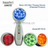 BP016 photon blue and yellow and greed and Red light therapy for skin/new beauty products 2016 Enhancing blood circulation