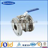 DIN Stainless Flange Type steel valves 2pc floating type ball valve type with ISO5211 direct mounting pad