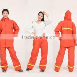 fabric thickness from 0.3mm to 0.60mm fashion lady water proof rain suit/ rain coat/raincoat/rainwear/rain gear