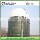 Anaerobic reactor enamel, commercial glass fused steel tank for biogas treatment with membrane roof