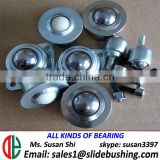 Miniature casters smart balance wheel recessed furniture casters rubber heavy duty type bearing unit