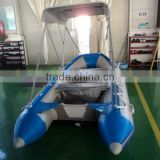 PVC material high-speed inflatable boats with awning