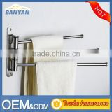 2016 New Brush Stainless Steel 3 Removable Bars Bathroom Towel Bar