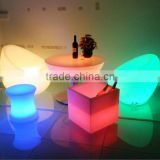 clear acrylic desk chair/led bar table/led furniture