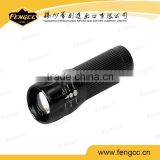 New Black Led Mini Flashlight Torch Light Hid Flashlight