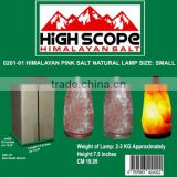 HIMALAYAN CRYSTAL ROCK PINK SALT LAMP NATURAL SHAPE SMALL SIZE HEIGHT 7 TO 7.5 INCHES