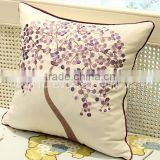 2017 Hot Sale Money Tree Embroidery Pillow Case Cotton Linen Square Cushion Covers
