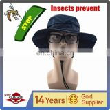 Insect Prevention Fabric bucket hat, outdoor hat can prevent pest bites ,factory